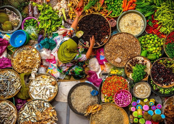 chợ Siti Khadijah, Kota Bharu, Malaysia.